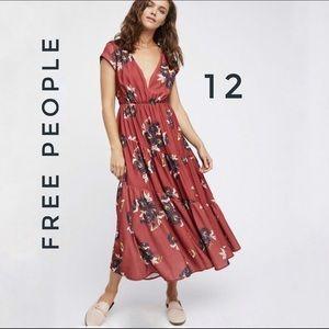 Free People Tiered Floral print Midi dress